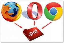 Как сохранить веб-страницу в PDF в Mozilla Firefox, Opera и Google Chrome