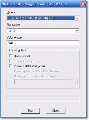 Утилита HP USB Disk Storege Format Tool