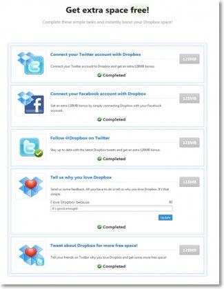 Второй шаг. Социальные сети  для Dropbox