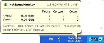 Программа NetSpeedMonitor