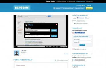 онлайн сервис Screenr