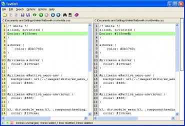 Как сравнить файлы - утилита TextDiff