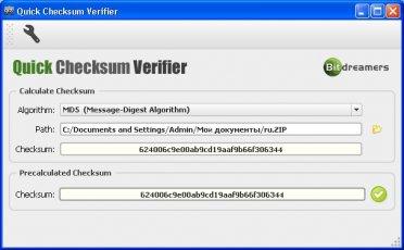 Quick Checksum Verifier