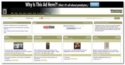 Онлайн сервис Internet Archive