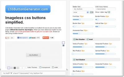 Онлайн сервис CSS Button Generator