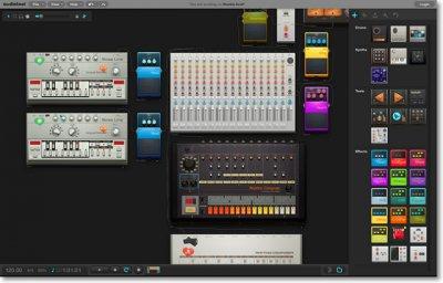 Виртуальная студия для звукозаписей - Audiotool