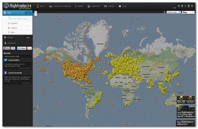 Онлайн сервис Flightradar24