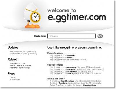 E.ggtimer.com – таймер онлайн