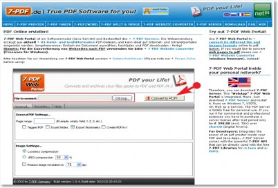 Онлайн сервис 7-PDF Web Portal