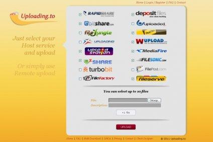 онлайн сервис Uploading.to