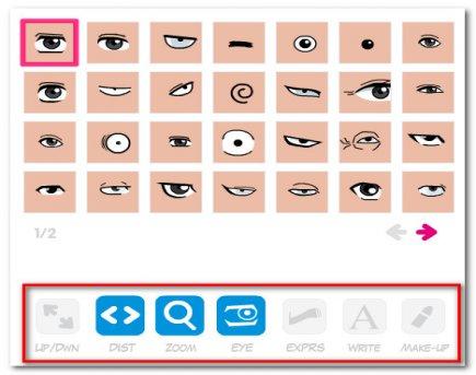 Подбираем глаза для аватара