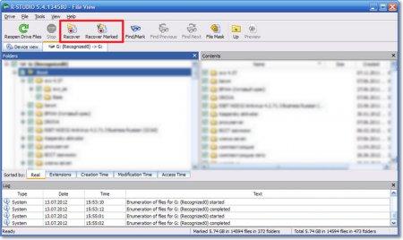Восстановление нужных файлов с флешки