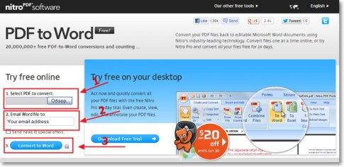 Онлайн сервис Nitro PDF