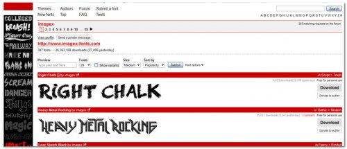 DAFONT - шрифты онлайн