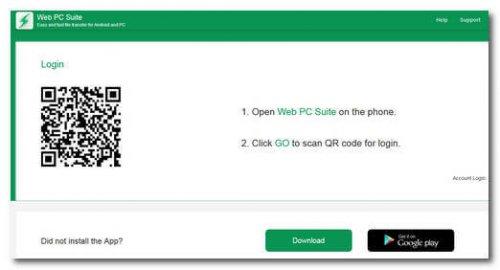 Скачать  приложение Web PC Suite с Play Market