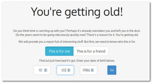 Сервис You're Getting Old