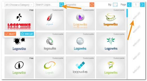 Выбор шаблона логотипа