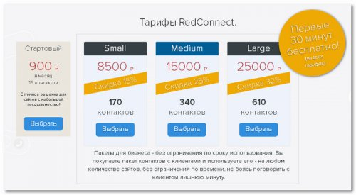 Тарифы RedConnect