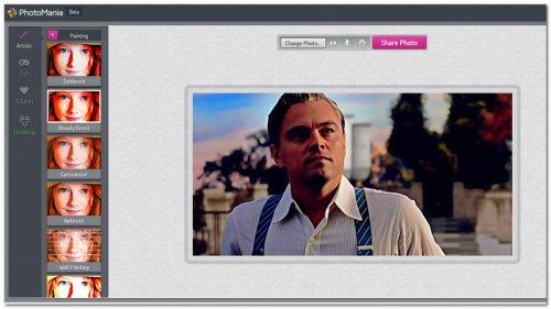 Рабочее пространство сервиса PhotoMania