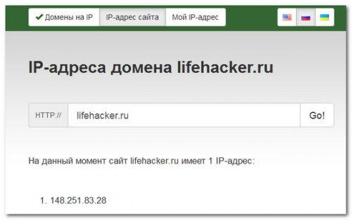 Сервис Siteipaddr.com