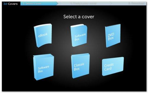 Выбор шаблона 3d обложки