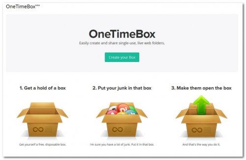 Хранилище данных OneTimeBox