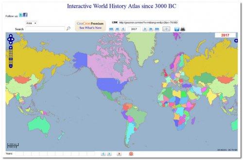 Интерактивная историческая карта с 3000 г. до н. э.