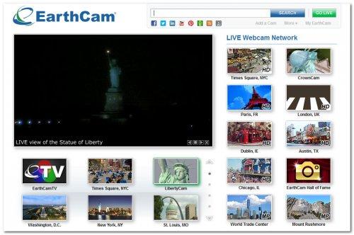 Главная страница EarthCam