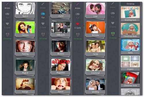 Панель с вкладками в PhotoMania