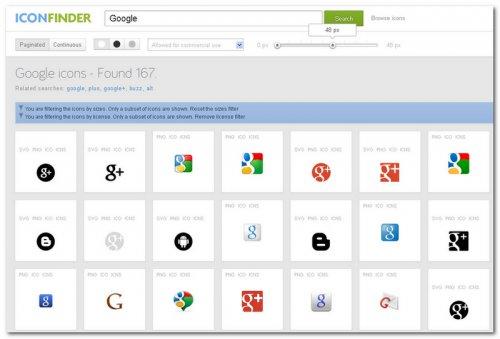 Поиск иконок в Iconfinder