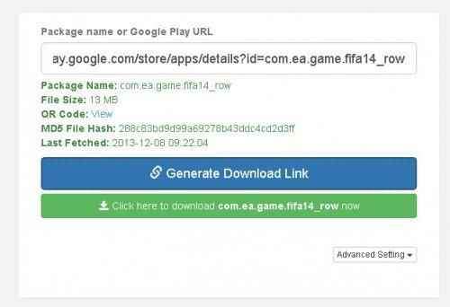 Скачать APK файл из Google Play