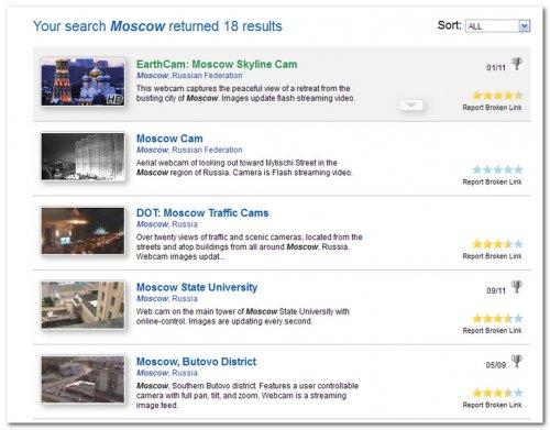 Онлайн веб камеры в реальном времени в России