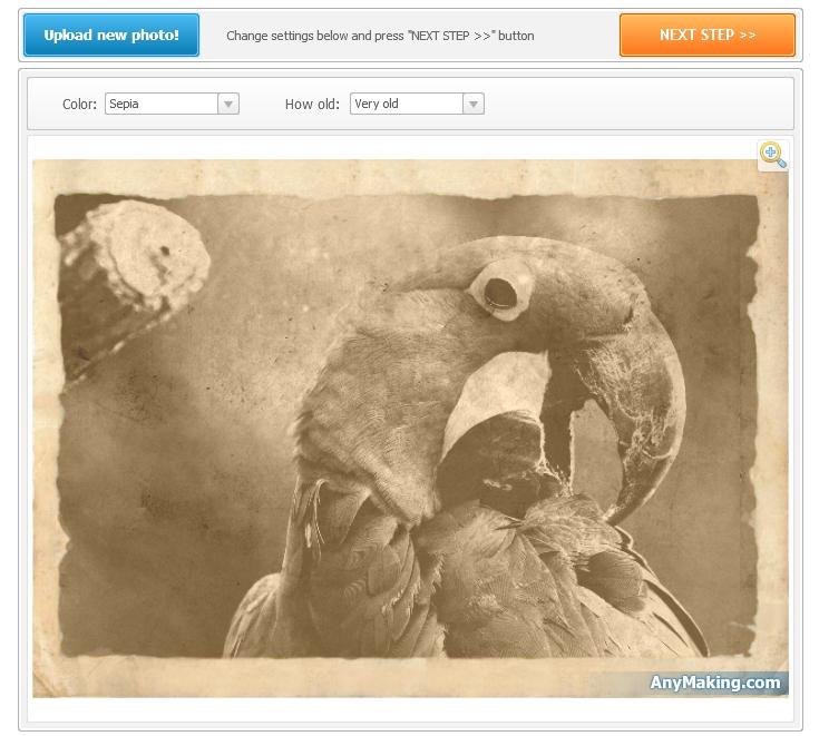 эффект старых фотографий: