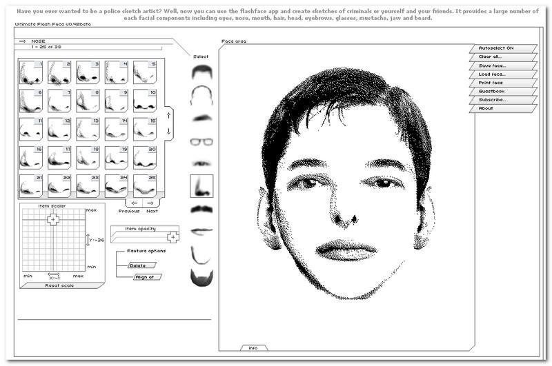 концептуальный самому составить фоторобот лица человека набор