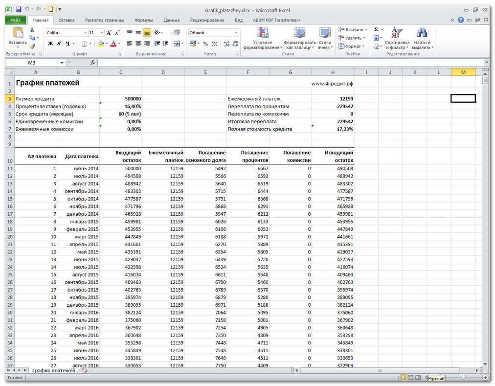 калькулятор кредита онлайн по ежемесячному платежу