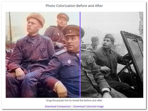 Как сделать цветным старое фото 660
